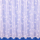 AMY FLORAL NET CURTAIN IN WHITE - SOLD BY THE METRE - FREE POSTAGE!