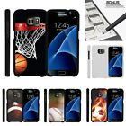 For Samsung Galaxy S7| Slim Fit Hard 2 Piece Case Basketball