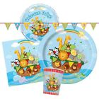 NOAH'S ARK Baby Shower Tableware & Decorations (Birthday/Napkins/Plates/Animals)