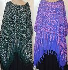 HIPPIE FUNKY OVER SWIMMER KAFTAN TOP SIZE 12 TO PLUS SIZE TIE DYE BATIK STYLE