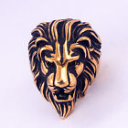 Domineering Lion Head Ring Stainless Steel Unique Animal Ring For Man Biker Punk