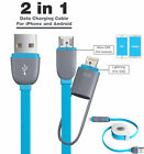 2 in1 Retractable Micro&Lightning USB Sync Data Charging Cable IOS & Andriod
