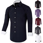 New Men's Casual/Formal Shirt Long Sleeve Stylish Business Dress Shirts Tops