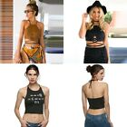 Women Sexy Backless Strappy Bralette Bra Bustier Crop Tank Top Cami Blouse Shirt