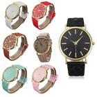 Women Classic Casual Geneva Roman Leather Band Analog Quartz Wrist Watch MSYG