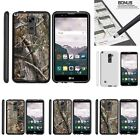 For LG Stylus 2| Stylo 2| Slim Fit Hard 2 Piece Case Tree Bark Hunter Camo