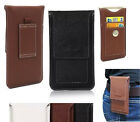 Vertical Belt Holster Card Slot Leather Pouch Case For Samsung Galaxy S7/S7 edge