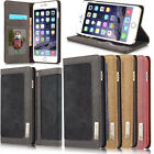 Magnetic Leather Canvas Wallet Flip Stand Card Case Cover For iPhone 6 6S Plus