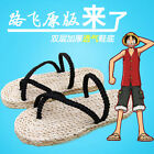 One Piece Monkey D Luffy Cosplay Costume Straw Shoes Sandals Slipper