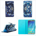 Magnetic Wallet Blue Fashion Cat Printed PU Leather Card Flip Stand Case Cover