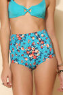 Out From Under High Waisted Retro Style Bikini Bottoms Waist Swimmers