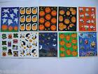 Vtg Hallmark Stickers Halloween Peanuts Ghosts Jackolanterns Black Cats Snoopy &