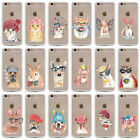 Carton Animal Pattern Soft TPU & Hard Plastic Back For Iphone 5 5S 6 6S 6Plus SE