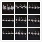 Butterfly Bridal Wedding Prom Clear Crystal Rhinestones Hair Pin Stick Clip
