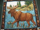 Moose Lake Pillow Panel Fabric By the PP 17x17 canoe quilt square craft cotton