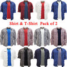 Tokyo Laundry Mens Long Sleeve Shirt Smart Casual Plain T Shirt Pack of 2 NEW