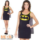 Batgirl Tank Dress Ladies Superhero Fancy Dress Womens Adult Batman Costume 8-14