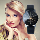 Womens Ladies Fashion Leather Strap Watches Quartz Stainless Steel Wrist Watch
