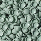 PALE SAGE GREEN TWO PIECE DOME SCREW CAP COVERS SNAP CAPS PRO-DEC FIXINGS