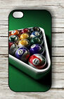 BILLIARD GAME POOL TABLE CASE FOR iPHONE 4 5 5C 6 -fmg7Z
