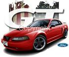 2001 Mustang GT Coupe T-shirts 7284 Genuine Ford automotive art