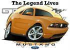2010 Ford Mustang GT Cartoon Tshirts NWT automotive art