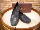 Clarks Haydn Navy Blue Snake Embossed Leather Loafer NEW