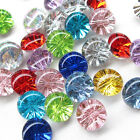 New 100/500PCS Clear Plastic Buttons Disco 13mm Sewing Craft T0902
