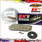 KIT CATENA CORONA PIGNONE EK RACING PBR PASSO 415 APRILIA RS 125 2009 2010