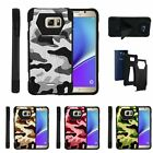 For Samsung Galaxy Note 5| Dual Bumper Case Kickstand Colored Camouflage