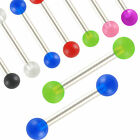 2P Barbell bars eyebrow piercing straight ring stud steel 9EDA-SELECT COLOR&SIZE