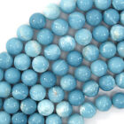 "Blue Larimar Quartz Round Beads Gemstone 15.5"" Strand 4mm 6mm 8mm 10mm 12mm"