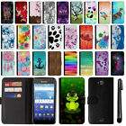 For Kyocera Hydro Wave C6740 Air C6745 Flip Wallet POUCH Leather Case Cover +Pen