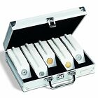 Lighthouse Aluminium Coin Case with 250 Self Adhesive Coin Holders