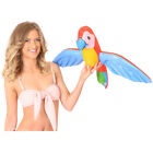 INFLATABLE PARROT FANCY DRESS PARTY ACCESSORY HAWAIIAN BLOW UP PROP DECORATION