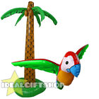 INFLATABLE PALM TREE OR PARROT FANCY DRESS PARTY ACCESSORY HAWAIIAN DECORATION