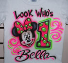 MINNIE MOUSE CUSTOM  BIRTHDAY T SHIRT NEW PERSONALIZED INFANT AND TODDLER SIZES