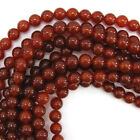 "Red Carnelian Round Beads Gemstone 15"" Strand 4mm 6mm 8mm 10mm 12mm"