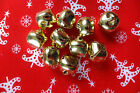10 Metal Bells Cat Jingle Bells GOLD Christmas Crafts Choose Size 10mm To 20mm