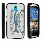 For HTC Desire 526G Case Hard Snap On 2 Piece Slim Shell Outdoor Fishing