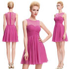 New Women's Sexy Chiffon Gowns Formal Short Mini Cocktail Party Bridesmaid Dress