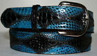 READ DESCRIPTION BEFORE PURCHASING Genuine Black & Blue Python Snake Skin Belt