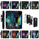 lg optimus i9 specs - For LG K Phone Series Rugged Armor Holster Clip Case Hybrid Space Stars Galaxy