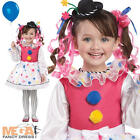 Girls Deluxe Cutsie Clown Ages 3 4 5 6  Fancy Dress Kids Circus Child Costume