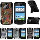 For ZTE Sonata| ZTE Radiant| Hybrid Hard Bumper Stand Case Fishing