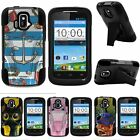 For ZTE Sonata| ZTE Radiant| Hybrid Hard Bumper Stand Case Cartoons