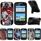 For ZTE Sonata| ZTE Radiant| Hybrid Hard Bumper Stand Case America Shield Hero