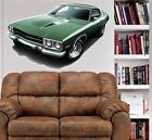 1973 1974 Plymouth Road Runner WALL GRAPHIC  DECAL MAN CAVE ROOM 9517