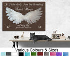 Angel Wings Wall Hanging Picture IF I Listen Closely...Quote Canvas Print  Brown