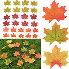 100 × Maple Leaf Fall Silk Leaves Wedding Favor Autumn Plants Foliage Decoration
